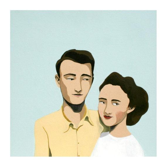 couple painting no.1 (print)