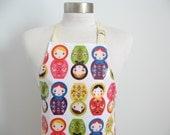 Laminated apron for girl AGE 2-5 / Vinyl craft apron / Art smock