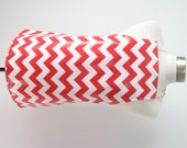 Kid apron AGE 2-5 / Red chevron stripes / Laminated apron / Paint smock / Craft apron
