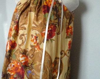 Womens Pillowcase Dress. Eco Friendly Dress. Eco Fashion. Summer Dress. Long Dress. Rose Dress.