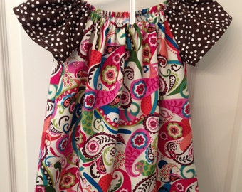 Girls Peasant Top  size 5 Ready to ship.  Hand Made