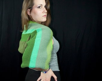 Shades of Green Sleeves Shrug