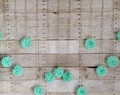 Seafoam Green Tissue Paper Flower Wedding Garland, Photography Prop, Mint Party Decoration