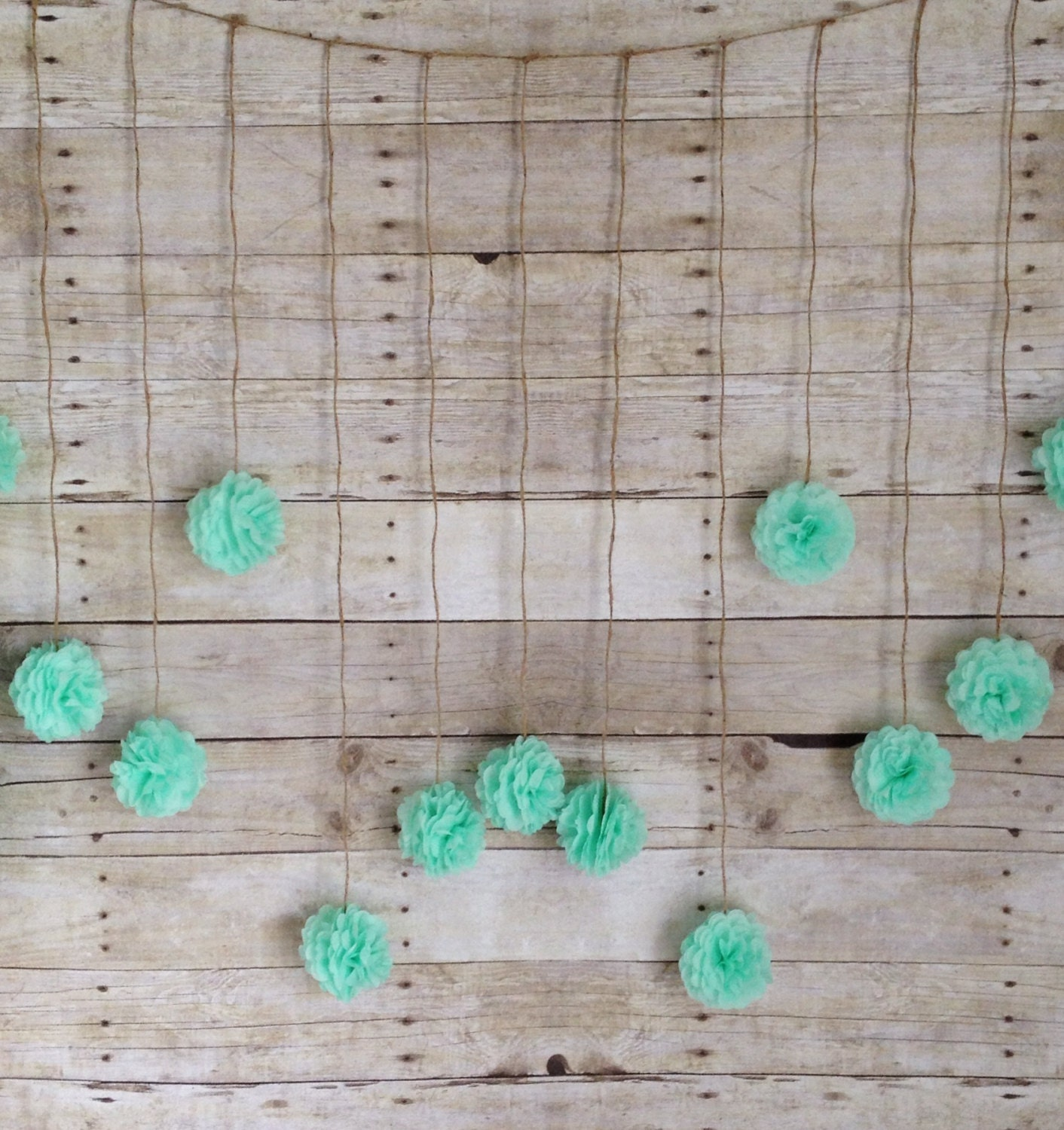 diy mint green tissue paper flower wedding by giddy4paisley. Black Bedroom Furniture Sets. Home Design Ideas