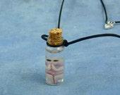 Alien Fetus Specimen Jar Necklace, Handmade Science Fiction Jewelry