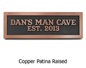 Man Room Sign, Man Cave Plaque for Him Custom 12x4 inches