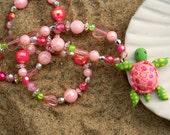 FloralSeaTurtle 962 Necklace