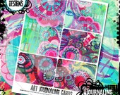 doodles UNLEASHED art journaling cards printable
