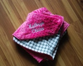Personalize a blanket, add a name. Blanket purchased Separately