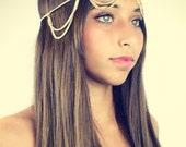 CHAIN HEADPIECE- chain headdress head chain SALE reg 30