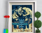 Print Canvas Art Rock Music  Poster Birthday Gift fine  art print  U2. rock band  wall  decor  poster lyric typography -   Wall Decor