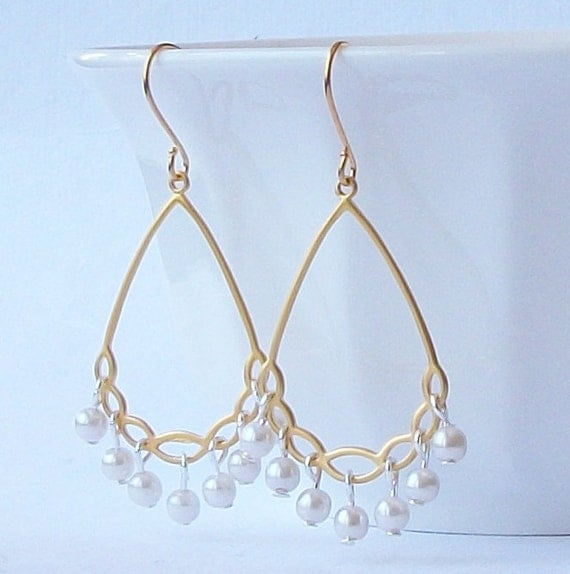 LAST ONE Pearl Chandelier Earrings