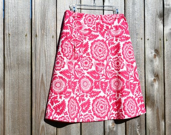 PeRfEcT fOr sUmMeR, Pink A-line Skirt, Blockade Blossom, simple A-line skirt, with small pocket, Joel Dewbery, size women's 2-24