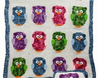 Owl Afghan & Pillow Set PDF