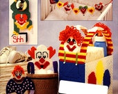 Plastic Canvas Baby Set, Under the Big Top, Vintage Annie's Attic Pattern Book, Circus, Clowns, Mobiles & More