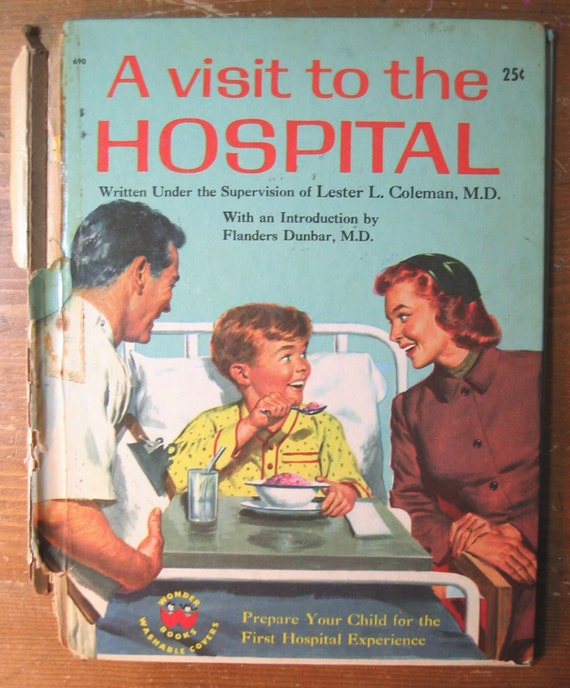 Vintage Children's Book: A Visit to the Hospital (COVERS ONLY)