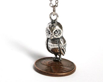 Silver Owl Necklace 289
