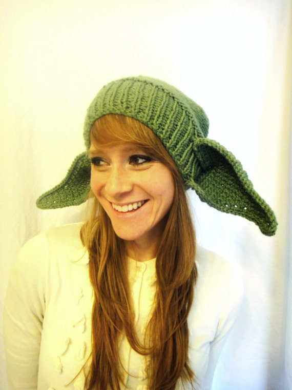 Items similar to The Everyday Yoda Hat--adult hat on Etsy