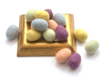 Felted Easter eggs pastel small 10 wool ornaments spring decoration Weddings decor favor gift home