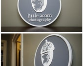 Personalized Custom Round Wood Sign For Business, Store, Shop, Trade Show, Restaurant, Salon