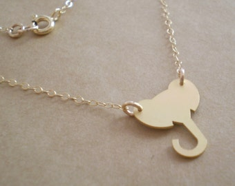 Elephant Necklace - Delicate Elephant Necklace - 14k Gold Filled or Silver