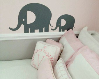 Elephants Vinyl Wall Decal Sticker - Set of 2  DB254
