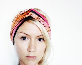 The Twist Turban Headband- In Neon Print