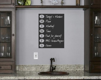 Days of The Week Chalkboard vinyl Wall Decal