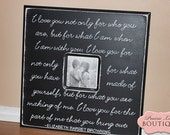 20x20 Picture Frame, Black and White, I love you not only for what you art, Elizabeth Browning Quote, Weddings, Gift, Anniversary
