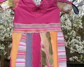 Tiny Dancer DRESS upcycled cotton knits size 12M