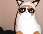 Grumpy Cat Plush - Instant Download - PDF Pattern Tutorial EASY