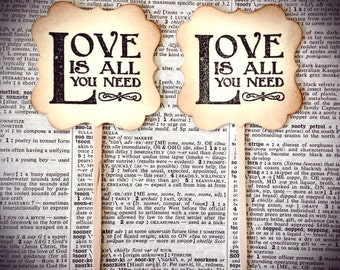 Wedding cupcake toppers, Love is all you need,