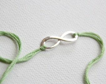 valentines day wish bracelet silver infinity jewelry friendship bracelet green wishlet best friend valentine gift infinity charm bracelet