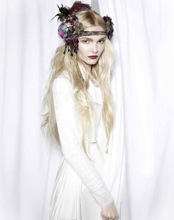 The Joanna Headdress- Custom Colors Available- OOAK Made to Order, Bespoke