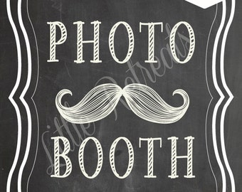 DIY. PRINTABLE Chalkboard PDF. Photo Booth Sign. Photo Booth Prop. Photobooth Prop. Photo Booth.Chalkboard Sign, Wedding Reception. Chalk