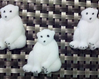 Edible Fondant Polar Bears-Cake/Cupcake Toppers-Set of 12 Cupcake/Cake Decorations
