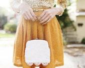 VINTAGE - Sweet 60s Beaded Wedding Purse