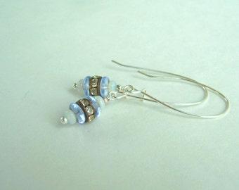 Earrings Delicate Simple Elegance Vintage Rhinestones Sparkling Handmade Earring