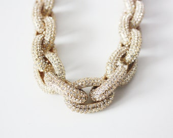 Crystal Pave Link Necklace