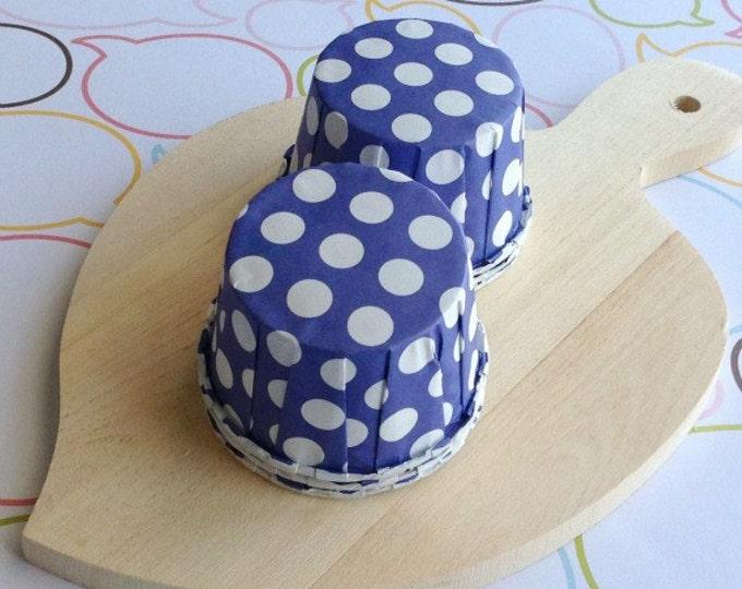 25 Polka Dots Grape Baking Cups