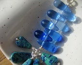 Malachite Azurite Vintage Bead Pendant