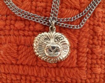 Vintage Miniature Lion Head Fashion Jewelry Necklace
