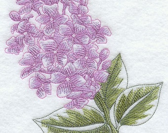 Lilac Beauty Embroidered Terry Kitchen Towel Bathroom Hand Towel
