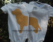 Golden Retriever Dog Twin Onesie Set