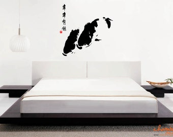 Koi Chinese Painting Wall Decal