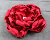 Red Satin Dog Collar Flower - Wedding Party Accessory