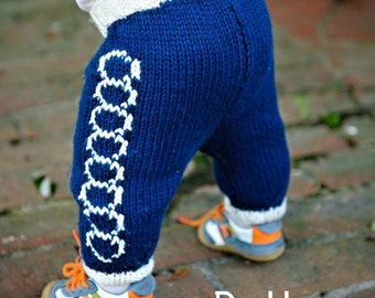 make your own Mod Circle Sweaterpants (DIGITAL KNITTING PATTERN) for baby