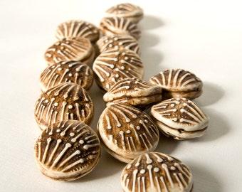 Rustic Faux-Ivory Boney Beads