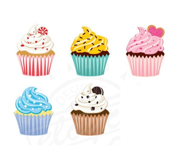 Cupcake Clipart no Background Cupcake Clipart Digital For
