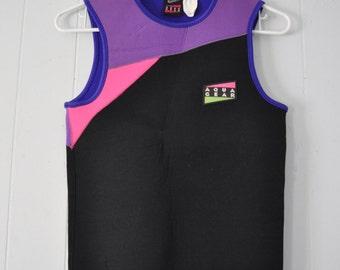 Rad Wetsuit Top Surf Neon Wet Suit Black Purple Pink Nike Aqua Gear Surfer Ladies Womens LARGE
